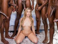 Porno bbc da loirinha fudendo com negros
